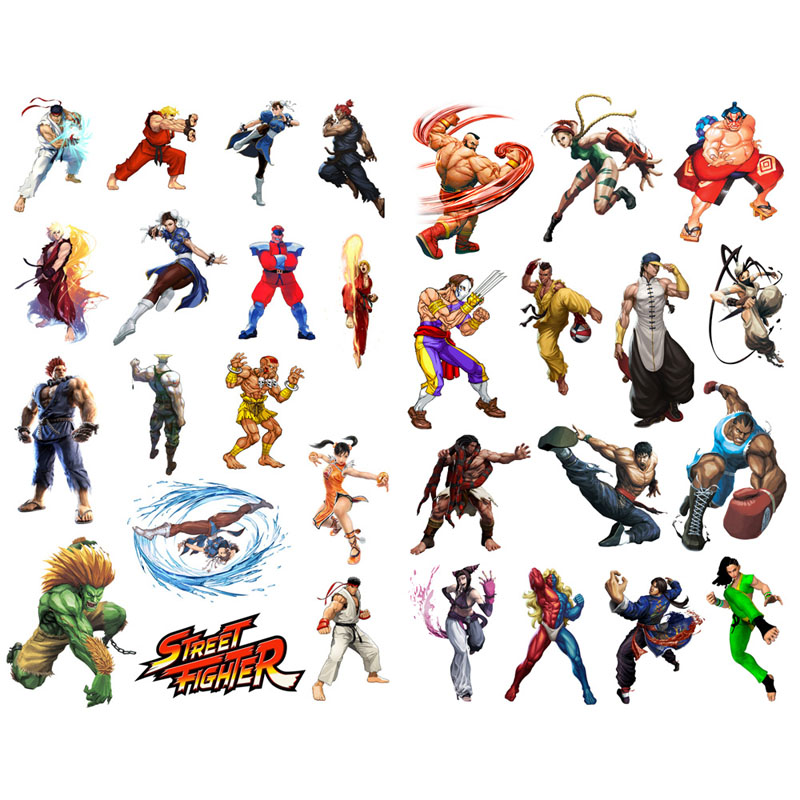 1 Pcs Street Fighter Spiel Mohamm Planer Tagebuch Sticker Pack Post Es Notebook Agenda Kugel Journal Aufkleber Scrapbooking