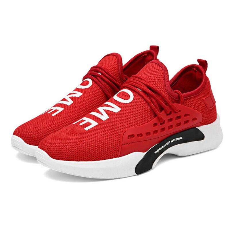 Shoes Fashion Style Olpay2019 New Fashion Design Breathable Flying Weaving Sneakers Men Sport Shoes Red Bottom Shoes Without Return Men's Shoes