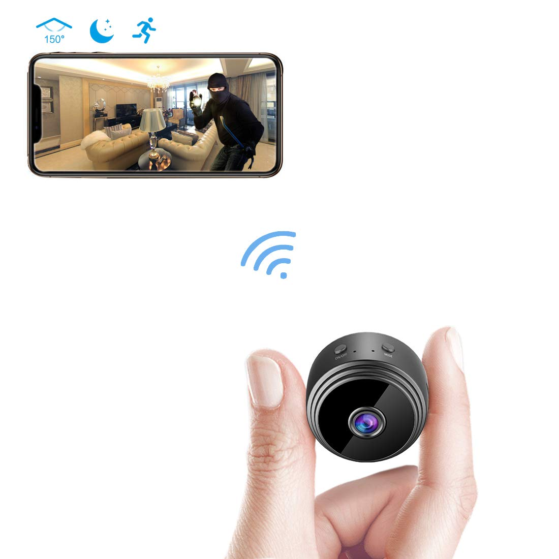 1080P Wireless WiFi IP Camera Mini Camera Portable Home Security Camera Video Recorder Camcorder Night Vision