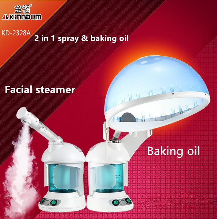 2 In 1 Sauna Vaporizer Salon Hair Steamer&vapor Facial