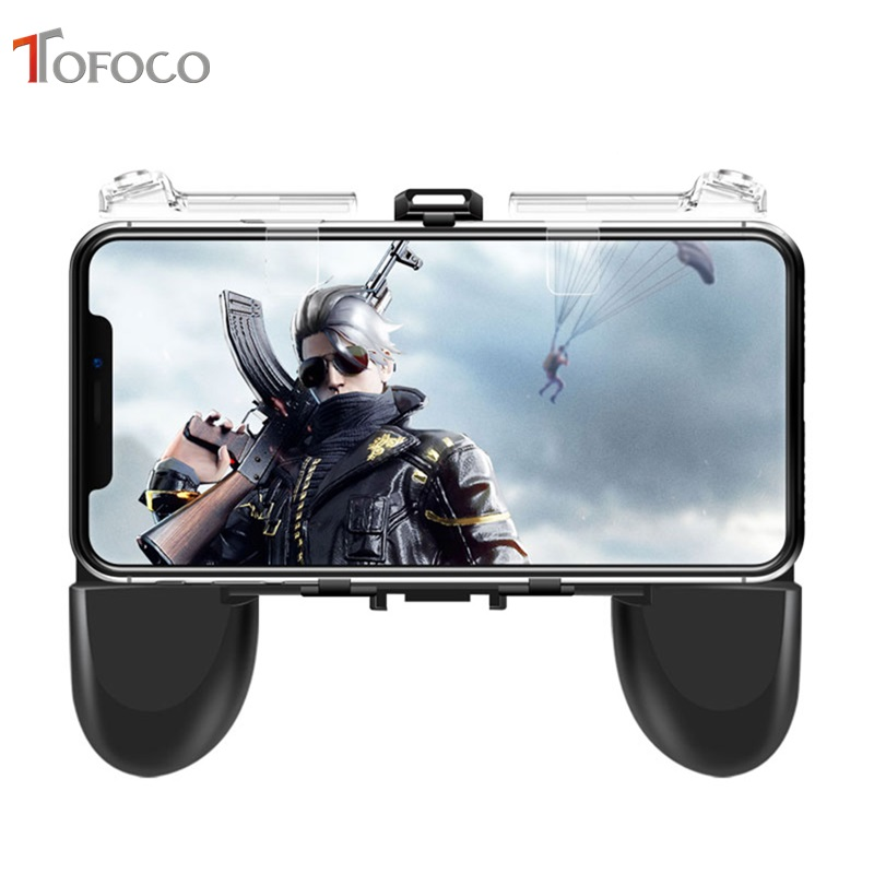 Transparent For PUBG Mobile Gamepad Control Touch Joystick Gamer Android Game pad L1R1 controller for iPhone Xiaomi Trigger