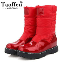 Taoffen New Winter Woman Mother Boots Slip Resistant Waterproof Cotton Padded Shoes Women Maternity Plush Snow Boots Size 33 43