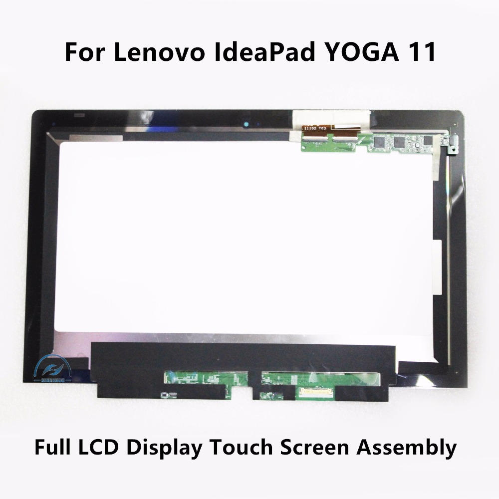 11.6 inch New Genuine Touch Glass Lens Digitizer + LCD Display Screen Assembly Panel Replacement For Lenovo IdeaPad YOGA 11  top quality new black white gold replacement lcd display touch digitizer screen assembly for lenovo k6 phone parts