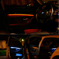 Interior LED Decorative Atmosphere Strip Lights for B MW 5 Series F10 F18 2011 2017 Orange/blue Switchable