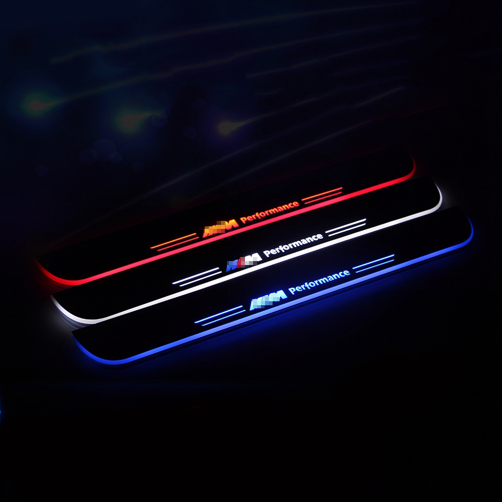 COOL !! custom LED car-styling running Courtesy Pedal logo door Sill Scuff guard for BMW new series 3 F30 F35 from 2013-2015