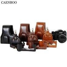 CAENBOO Leather Camera Bag Hard PU Protector Camera Body Cover Case Skin+Battery Openning Bag+Strap for Fujifilm X-T2 Fuji XT2