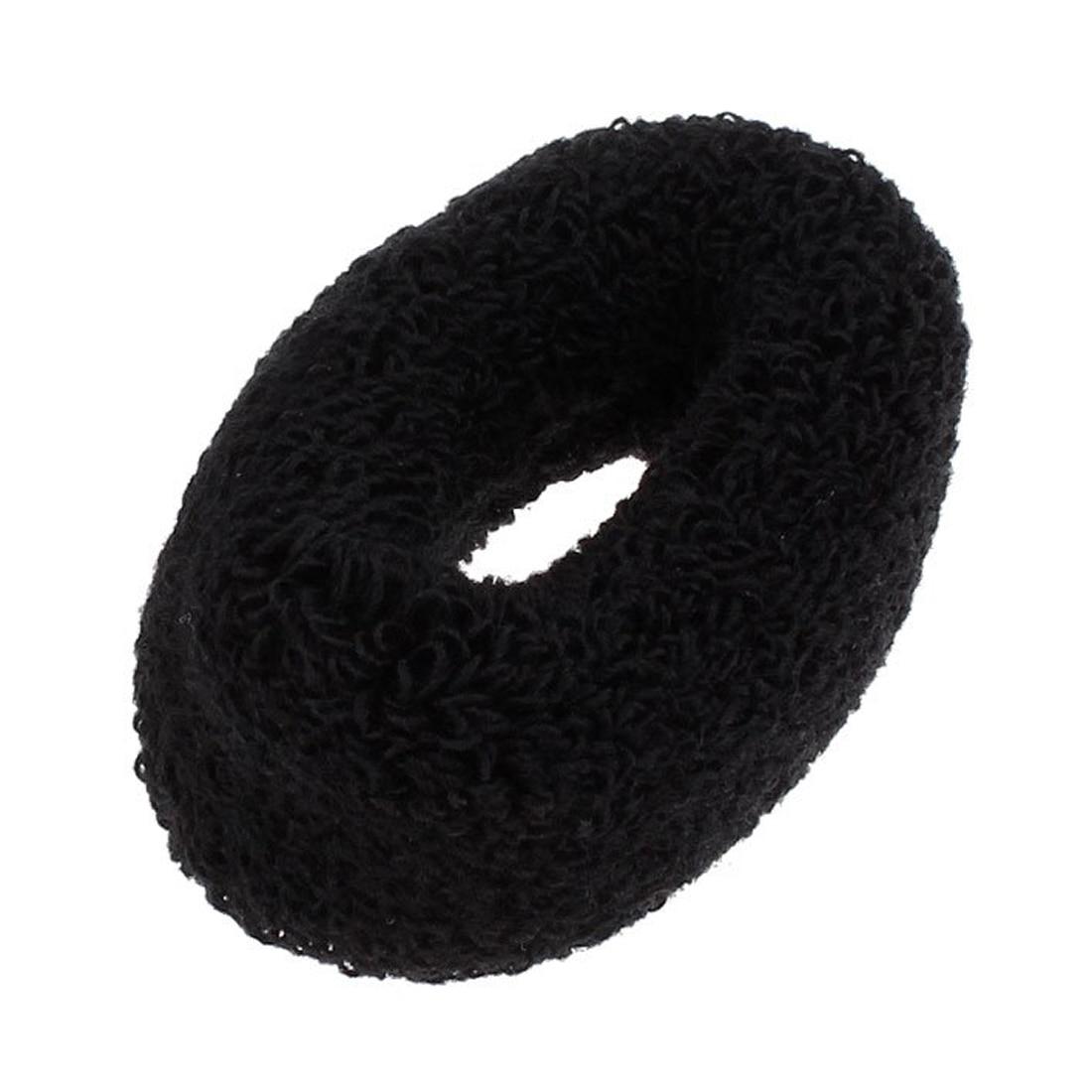 2 Pcs Headdressing Terry Elástica Rabo de Cavalo Titular Hairband para a  Mulher Preta 73439ca6bbc