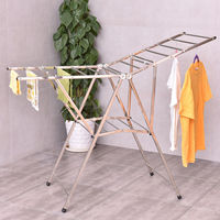 Goplus 58 Folding Clothes Drying Rack Laundry Dry Hanger Home Household Heavy Duty Stainless Steel Clothing