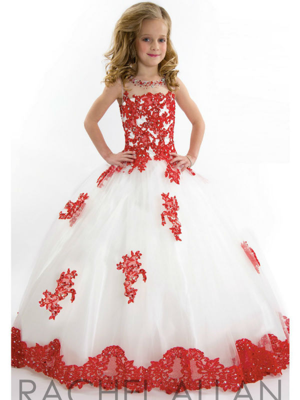 Flower Girls Dresses For Wedding Lace First Communion Dresses for Girls Ball-Gown vestidos de comunion Mother Daughter Dressses