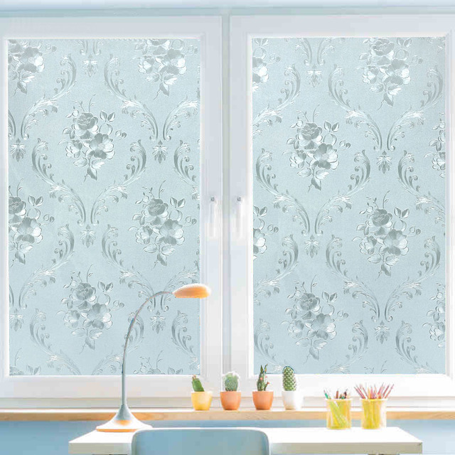 45x200cm static self adhesive window film frosted glass sliding 45x200cm static self adhesive window film frosted glass sliding door bathroom window stickers translucent opaque planetlyrics Gallery