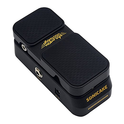 Sonicake 2 in 1 Expression Effect Pedal Combine Active Volume and Vintage Wah Mode LED Light Show Foot switch Button Step QEP-01