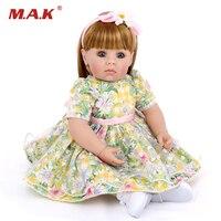 50 см принцессы Кукла реборн Мягкие силиконовые возрождается ребенка куклы реалистичные boneca Reborn раннего образования игрушки