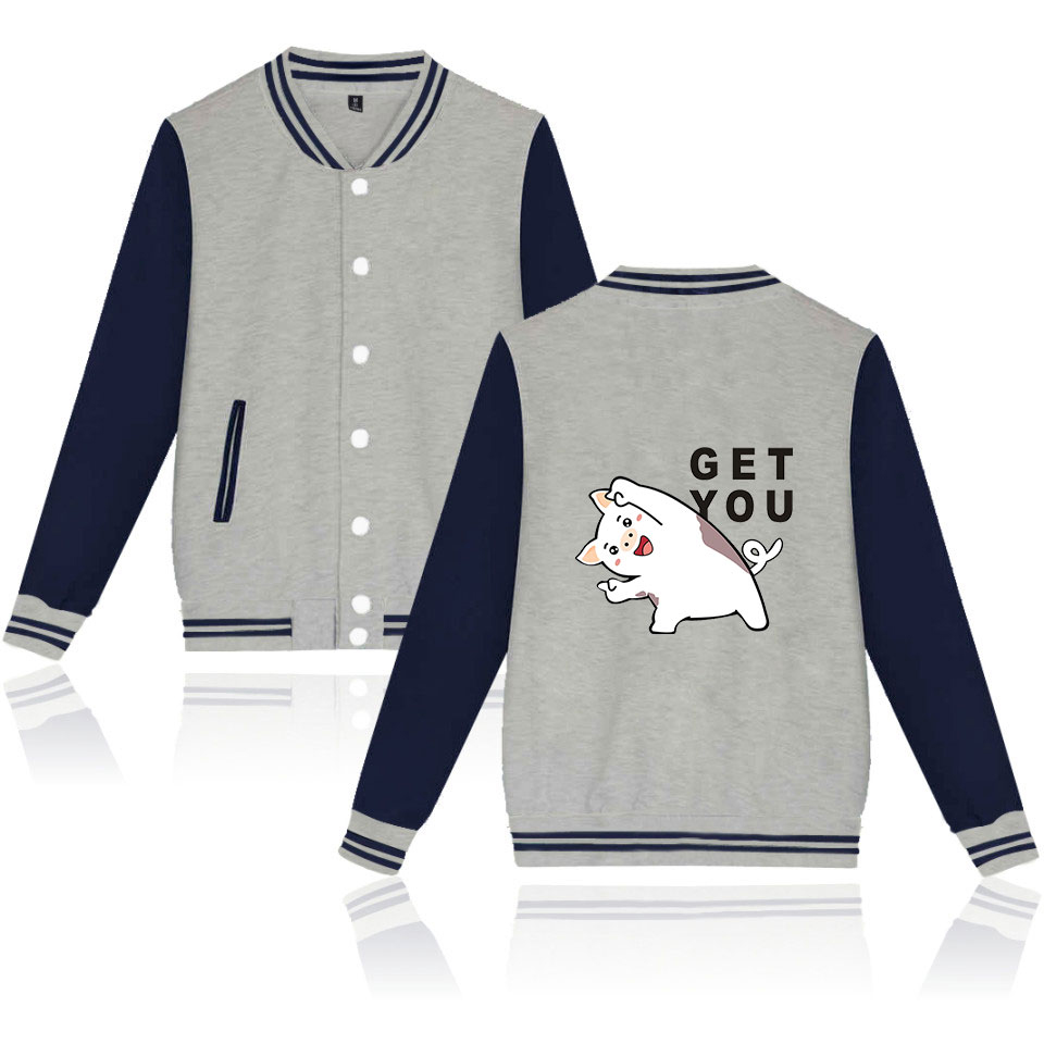 LUCKYFRIDAYF K pop NEW 2019 Year Of The Pig sala Jacket Casual Winter Women Men Hip Hop Fans sala hot Baseball Jacket Clothes in Jackets from Men 39 s Clothing