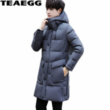 TEAEGG Casual Thickening 2017 Men's Winter Down Jacket Parka Homme Hooded Canada Winter Jackets Mens Coat Plus Size 3XL AL366(China)