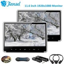 Fansel 2PCS 11 6 Inch 1920x1080 Car Headrest Monitor DVD Player HD 1080P Video IPS Touch