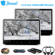 Fansel 2PCS 11.6 Inch 1920×1080 Car Headrest Monitor DVD Player HD 1080P Video IPS Touch Button Screen HDMI/FM/IR/USB/SD/Game