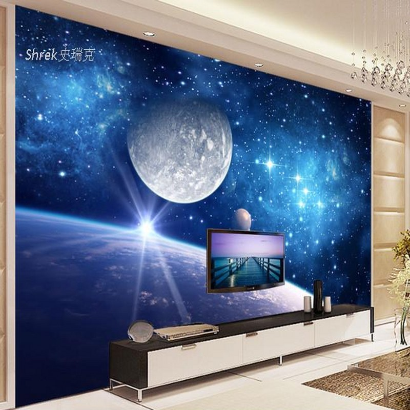 photo wallpaper 3D film television wall murals universe star