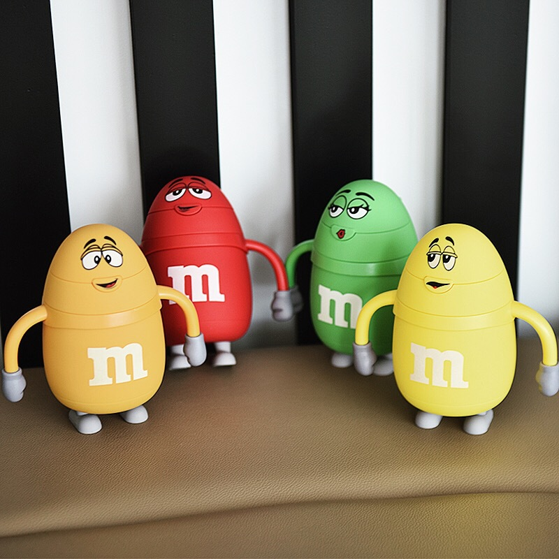 Genuine American M Chocolate Beans Stainless Steel Vacuum Flasks 220ml Cartoon Children Thermos Cup Travel Mug Thermol Bottle taza de m&m