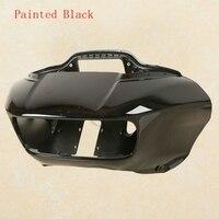 Front Black Inner Outer Headlight Fairing Mask For Harley Road Glide FLTRX 15 18 ABS
