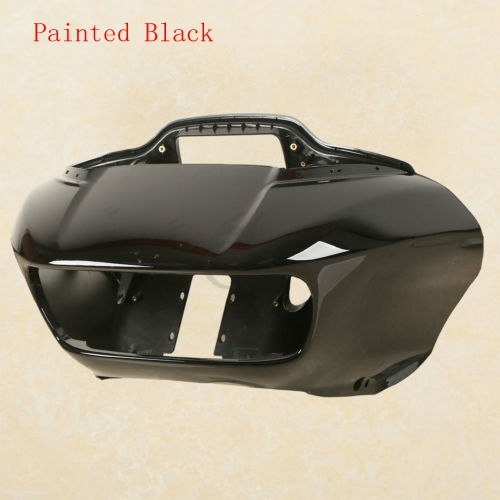 Front Black Inner & Outer Headlight Fairing Mask For Harley Road Glide FLTRX 15-18 ABS все цены