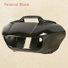 Спереди Черный внутренней и внешней фара обтекатель Маска для harley-роуд Glide fltrx 15-18 ABS
