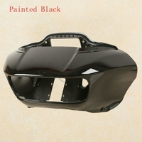 Front Black Inner Outer Headlight Fairing Mask For Harley Road Glide FLTRX 15 18 ABS