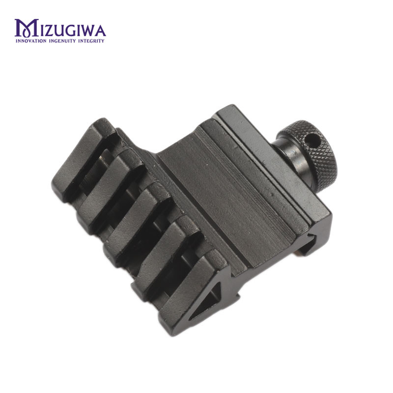 1PC 4 Slot Offset Scope Rail Weaver 45 Degree Angle Fit 20mm Rail Mount Quick Release Aluminium Alloy Caza Hunting Accessories