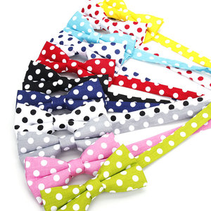 2019 Brand New Men's Fashion 100% Cotton Classic Polka Dot Bowtie For man Wedding business Colorful bow ties Corabatas Butterfly