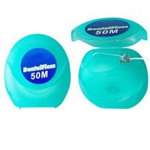 50 м в штучной упаковке зубная нить ультра тонкая Глубокая чистка зубов Предотвращение гингивита зубная нить мятный вкус Hilo Стоматологическое орошение