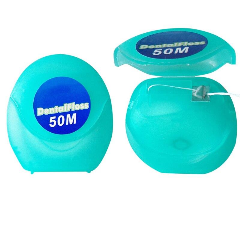 FäHig 50 Mt Boxed Zahnseide Ultra Feine Tiefe Reinigung Zähne Verhindern Gingivitis Zahnseide Mint Geschmack Hilo Dental Bewässerung Klar Und Unverwechselbar Mundhygiene
