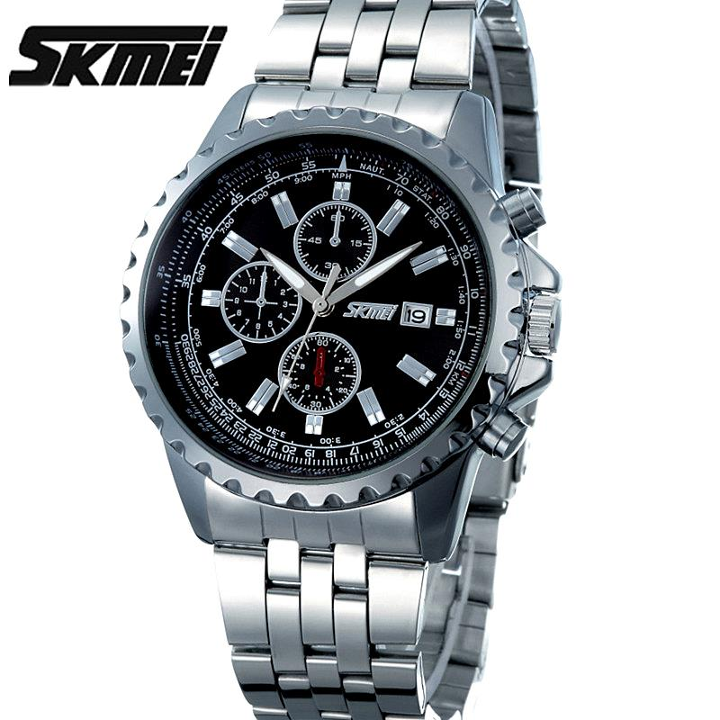 Prix pour Montres hommes Skmei marque de luxe montre à quartz D'affaires décontractée reloj hombre de plongée 30 m sport Horloge relogio masculino 6865