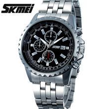 Relojes hombres lujo de la marca Skmei reloj de pulsera de cuarzo casual de Negocios hombre reloj de buceo 30 m sport Reloj del relogio masculino 6865