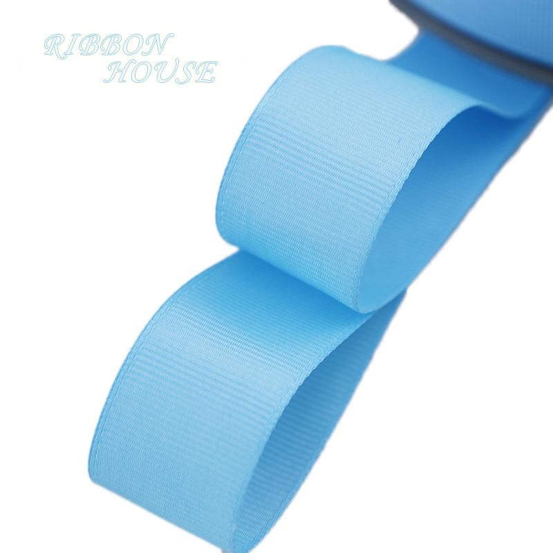 (5 м/лот) 1 «(25 мм) Голубой Grosgrain ленты Подарочная упаковка оптом Рождество украшение ленты