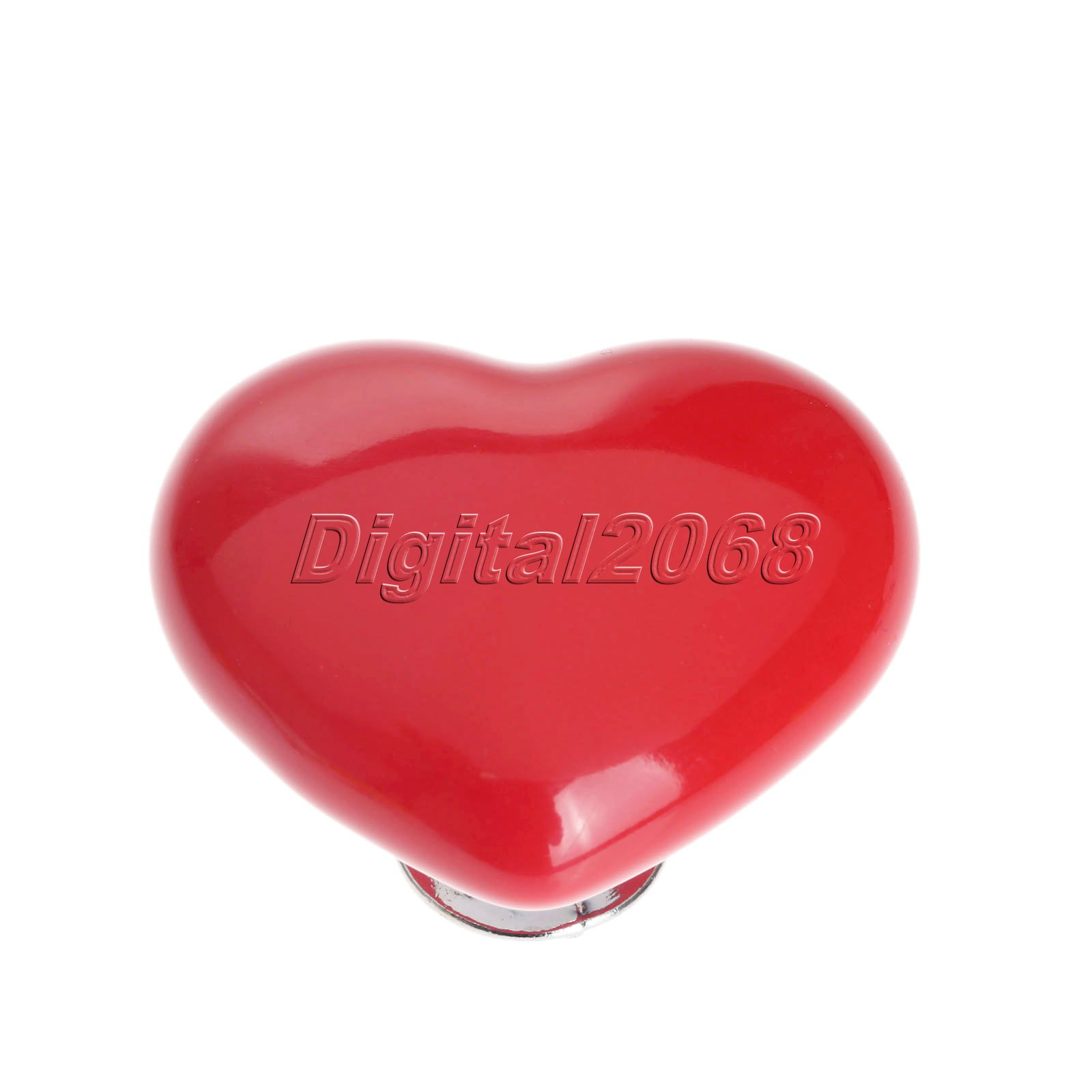 Ceramic 8 Colors Heart Shaped Handles and Knobs Door Handles Kitchen ...