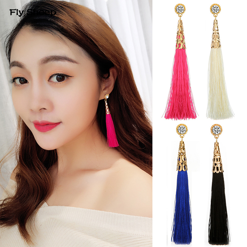 Long Tassel Earrings Drop Earrings Bohemian Women Jewelry Exaggerated Summer Seaside Travling Femal Dangle Earrings