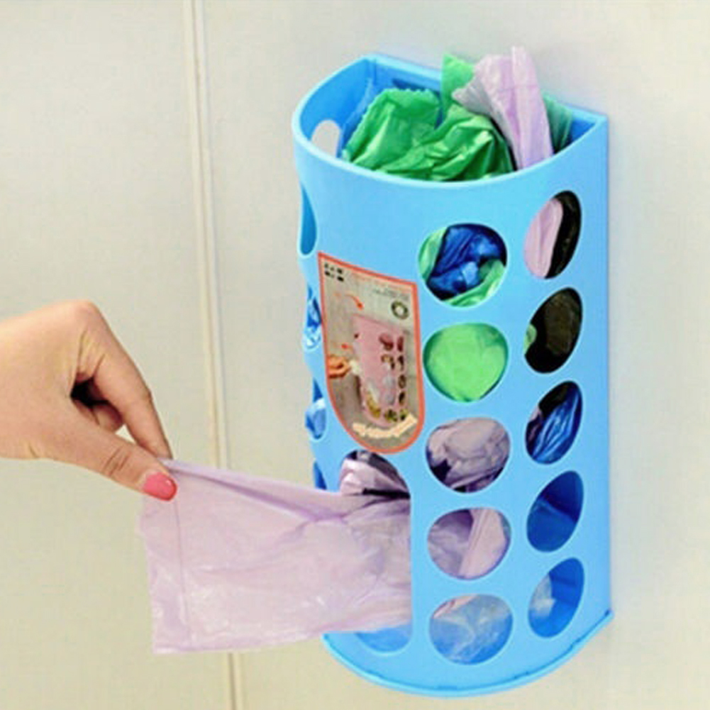 Reused Plastic Bag Storage Container Space Saver Wall Mount Kitchen