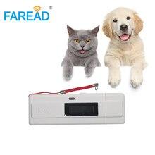 Ücretsiz kargo ISO11784/5 FDX-B EMID Pet KIMLIK Tarayıcı Mini cep RFID mikroçip kulak etiketi okuyucu hayvancılık için tanımlama