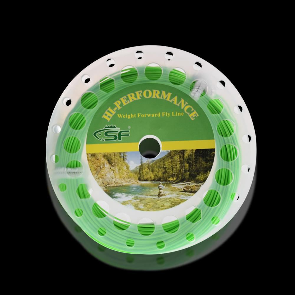 SF Spring Green Fly Fishing Line Weight Forward Floating 3 5 6 7 8 9wt with Two Loops