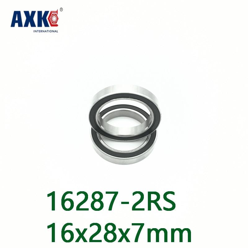 Axk 16287 Hybrid Ceramic Bearing 16x28x7mm Abec-1 (1 Pc) Bicycle Bottom Hub 16287rs Si3n4 Ball Bearings 16287-2rs 6902/16-2rs axk free shipping 1pcs 6901 2rs hybrid ceramic si3n4 ball 61901 ceramic bearing 12 24 6mm 6901 2rs