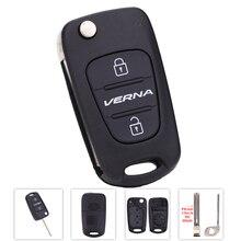 2 Кнопки Замена Ключа Автомобиля Shell Для Hyundai Verna Флип Складной дистанционного Ключа Автомобиля Брелок Случае С Пустой Ключ Лезвие и Hyundai стикер
