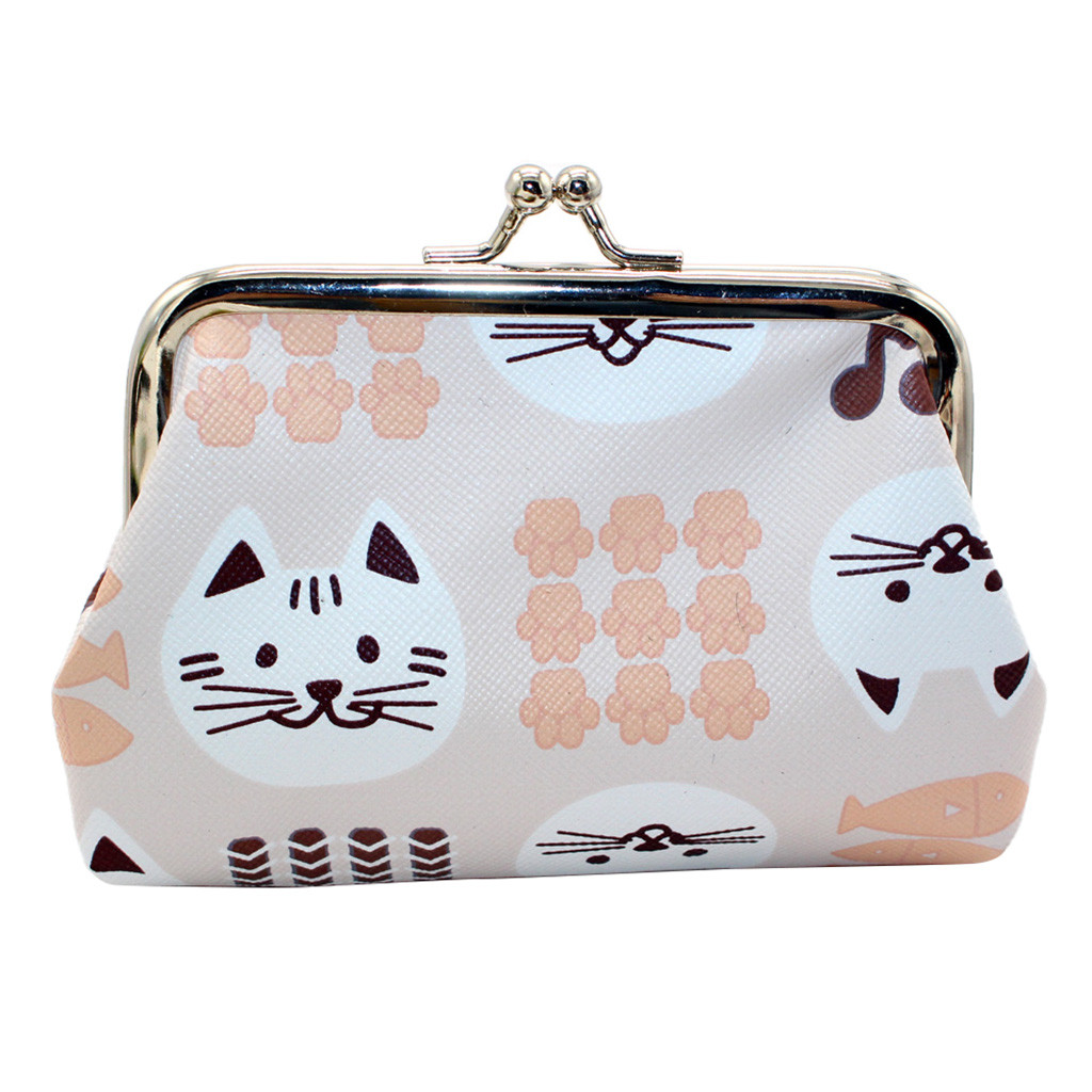 Cartoon Coin Purse Mini Leather Clutch Bags For Girls Free Shipping