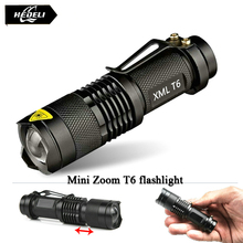 Mini Zoomable led T6 flashlight torch cree xm-l 2800 lumens waterproof rechargeable 18650 battery flash light linternas
