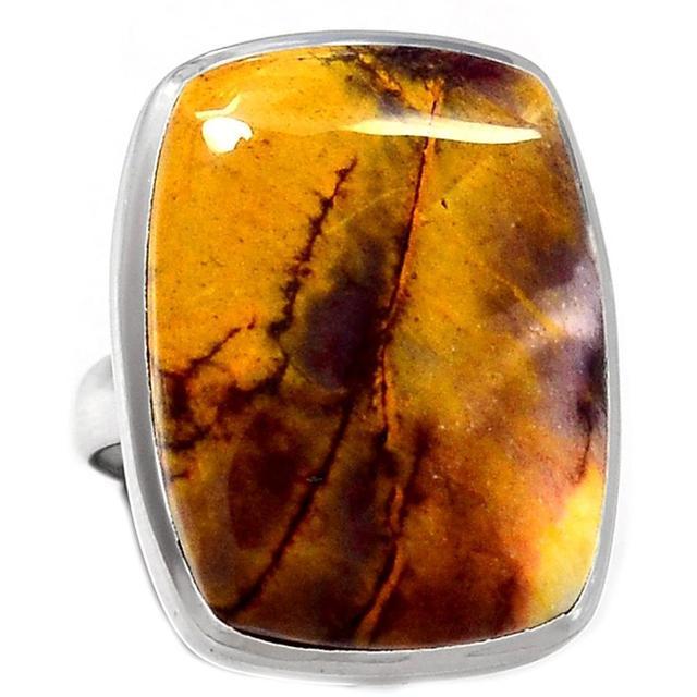 Lovegem Genuine Mookaite Ring 925 Sterling Silver, Size : 7.25 , AR1413