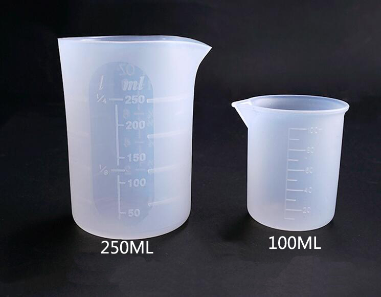 250ML Silicone Measuring Cup Split Cup Resin Silicone Mould Handmade DIY Jewelry Making Tool Epoxy Resin Cup 5 Style For Choose
