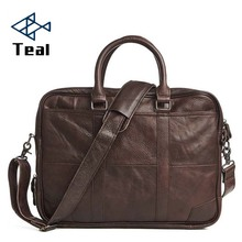 Men Business Bags Men Genuine Leather Briefcase Bag Handbag Laptop Messenger Crazy Horse Large Capacity Bag 2017 New цена