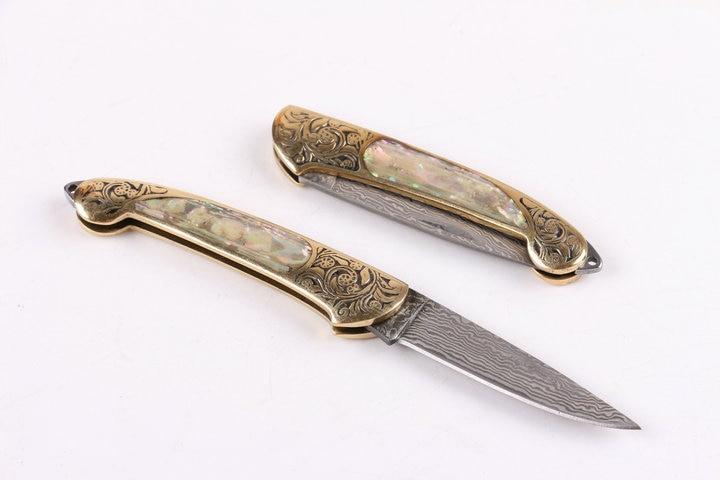 Uus stiil Käepideme korpus Puhas käsitsi Damaskuse nuga Mustriga - Käsitööriistad - Foto 3