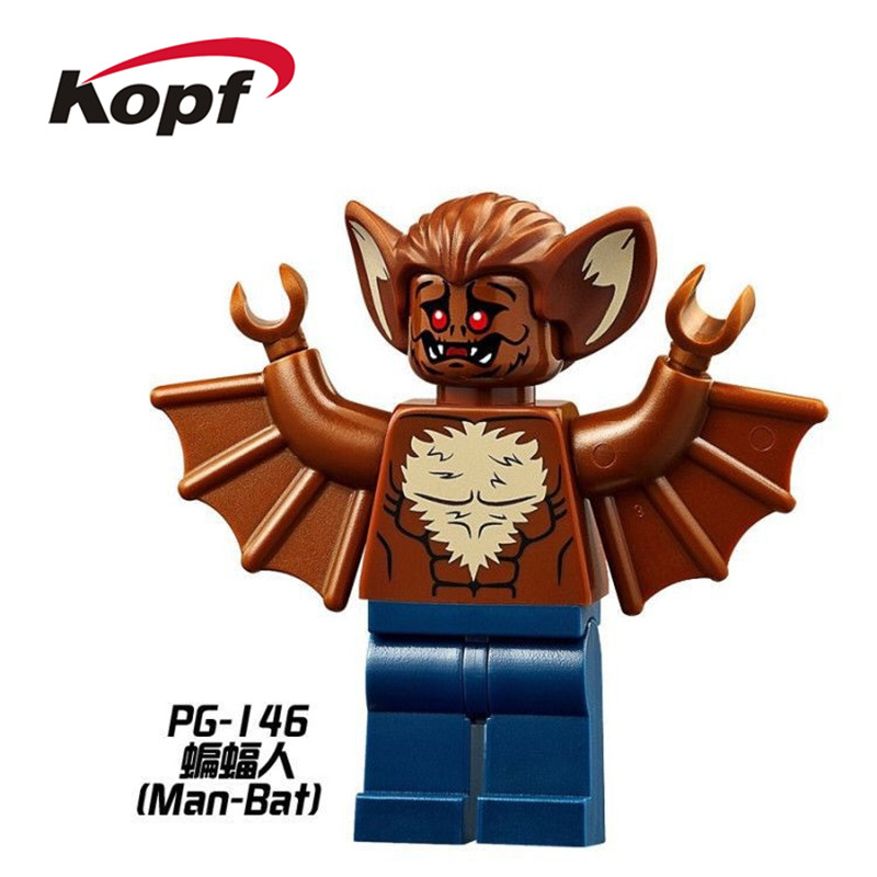 Single Sale Super Heroes Man-Bat Robin Bruce Wayne Joker Batman Movie Arkham Asylum Building Blocks Children Gift Toys PG146 single sale pirate suit batman bruce wayne classic tv batcave super heroes minifigures model building blocks kids toys gifts