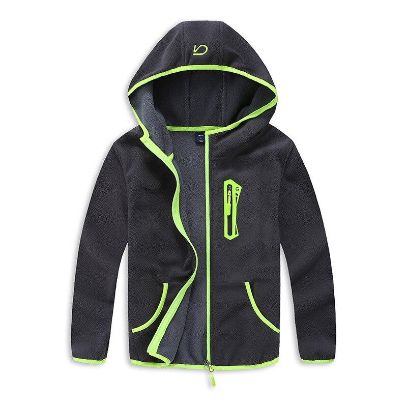 Ветрозащитный Куртки для маленьких мальчиков Детское пальто теплый флис детская верхняя одежда для 3-14 лет Демисезонный