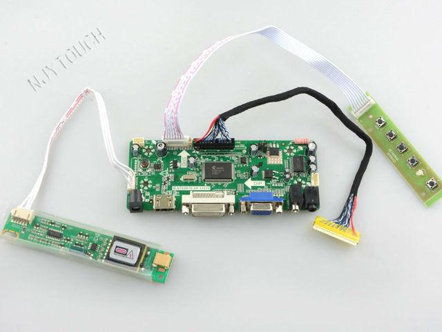 Frete Grátis HDMI DVI VGA Placa de driver de ÁUDIO LCD XGA para 15 polegada LVDS TFT LCD B150XG01 V2 1024x768 CCFL reparação de framboesa pi