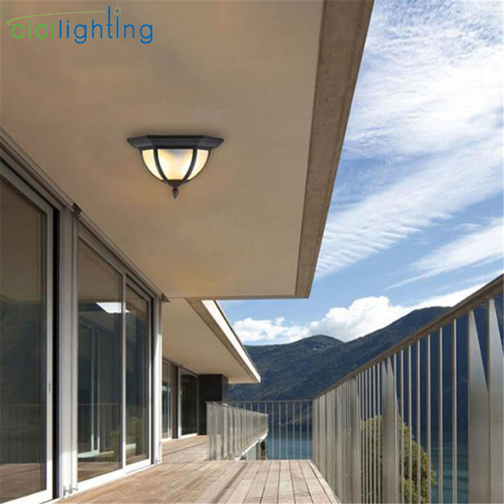 Waterproof Moistureproof D33cm outdoor Light Bathroom Balcony Ceiling Lamp 2pcs E27 bulbs landscape lighting industrial homeWaterproof Moistureproof D33cm outdoor Light Bathroom Balcony Ceiling Lamp 2pcs E27 bulbs landscape lighting industrial home